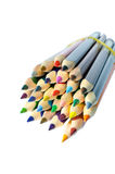 Colored pencils isolated on white background Stock Photography