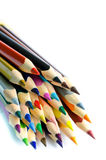 Colored pencils isolated on white background Stock Photos