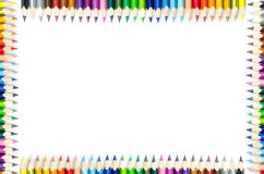 Colored pencils isolated on white background Stock Images