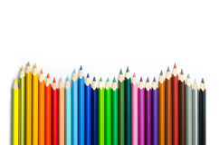 Colored pencils isolated on white background Stock Image