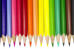 Colored pencils. Isolated on the white background Royalty Free Stock Photo
