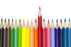 Colored pencils. Isolated on the white background Royalty Free Stock Photos