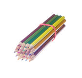 Colored pencils isolated on a white background Stock Photo