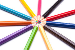 Colored pencils Stock Photography