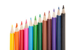 Colored pencils, isolated on white Stock Image