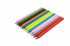 colored pencils isolated Stock Image