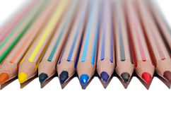 Colored pencils isolated on white background Royalty Free Stock Photography