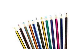 Colored pencils isolated on a white background Royalty Free Stock Image