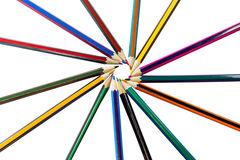 Colored pencils isolated on a white background Royalty Free Stock Images