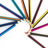 Colored pencils isolated on a white background Stock Photography