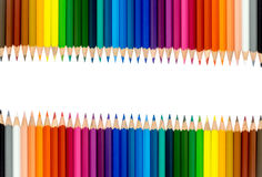 Colored pencils, isolated on the white background. Royalty Free Stock Photography