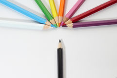 The colored pencils Stock Photography