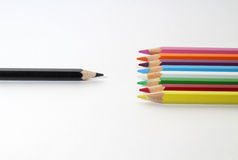 The colored pencils Royalty Free Stock Photo