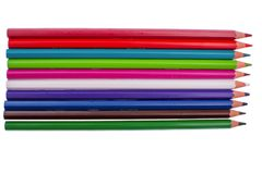 Colored pencils isolated on white background Royalty Free Stock Images