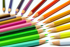 Colored pencils. Leave your mind free. Draw Royalty Free Stock Photography