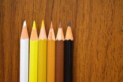 Colored pencils. Leave your mind free. Draw Stock Photography