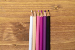 Colored pencils. Leave your mind free. Draw Royalty Free Stock Image