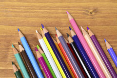 Colored pencils. Leave your mind free. Draw Royalty Free Stock Photos