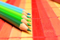 Colored pencils. Leave your mind free. Draw Royalty Free Stock Images