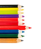 Colored pencils lie in the range Stock Images