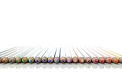 Colored pencils in line Stock Image