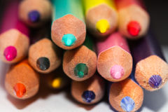 Colored Pencils. Lot of colored Pencils. Macro and little depth of field Royalty Free Stock Images