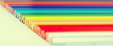 Colored pencils lying in row Royalty Free Stock Photo