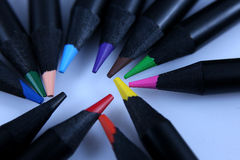 Colored pencils, macro Stock Photography