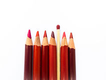 Colored Pencils and Match Stock Photography