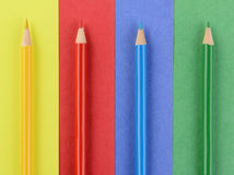 Colored Pencils on Matching Paper Stock Photography