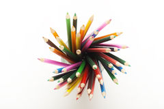 Colored Pencils in Mug! Royalty Free Stock Images