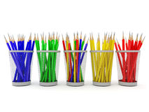 Colored pencils in the organizer Stock Images