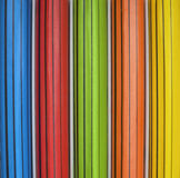 Colored pencils in packaging. Colored pencils in wooden packaging Royalty Free Stock Images