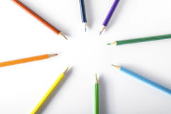 Colored pencils on paper Stock Image