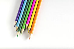 Colored pencils on paper Stock Photos