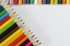 Colored pencils and pastel Royalty Free Stock Photography