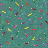 Colored pencils pattern Royalty Free Stock Photo