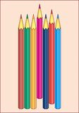 COLORED PENCILS PATTERN. Color vector image of color pencils for drawing Stock Photography