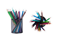 Colored Pencils in Pencil Box Royalty Free Stock Photo