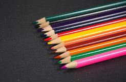 Colored pencils. Photo of some colored pencils Stock Photo