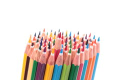 Colored pencils placed in group Stock Image