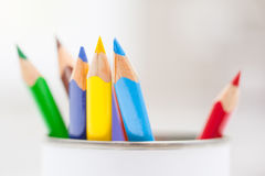 Colored Pencils In a Pot Stock Photo