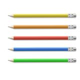 Colored pencils  on pure white background Stock Image