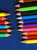 Colored Pencils in a Row Stock Images