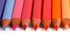 Colored pencils. In a row Stock Photography