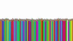 Colored pencils in a row, A stack of pencils royalty free stock photography