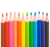 Colored pencils for school Stock Photos