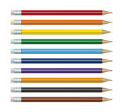 Colored pencils set Stock Photography