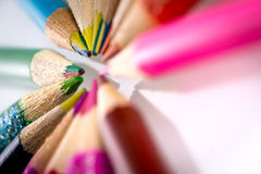 Colored pencils. Set of color pencils in shape Royalty Free Stock Photos