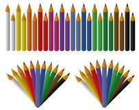 Colored pencils set. For design and graphical layouts royalty free illustration